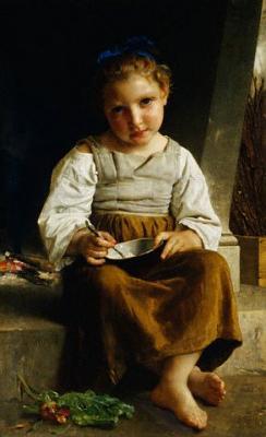 Ребёнок с порриджем