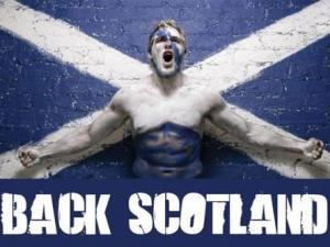 Мощное визуальное напутствие национальной шотландской регбийной сборной перед Чемпионатом мира по регби.