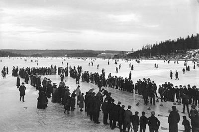 Турнир на замерших Дартмутских озерах, Дартмут, Канада, 1897 год.