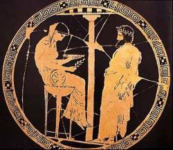 Пифия и жрец