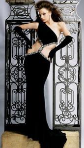 Экстравагантное черное вечернее платье