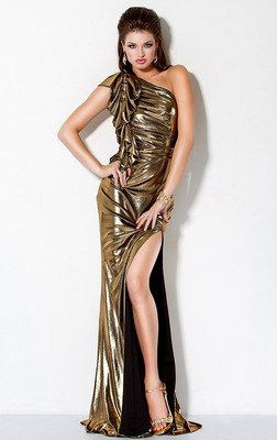 Золотое платье на Новый год