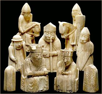 шахматные фигурки с острова Льюис