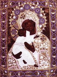 Икона. Вышевка бисером. Россия 1800