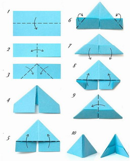 Схема сборки модуля для оригами