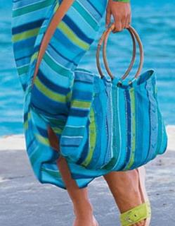 Пляжная сумка в тон парео