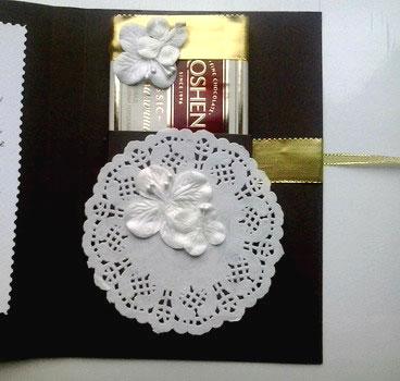 Мастер-класс открытка шоколадница