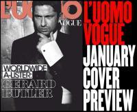 Шотландский актёр Джерард Батлер в январском выпуске журнала L'Uomo Vogue (Италия). Фотограф: Tom Munro.