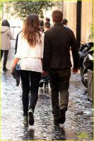 Джерард Батлер и Мадалина Генеа в Риме 6 апреля  2013г