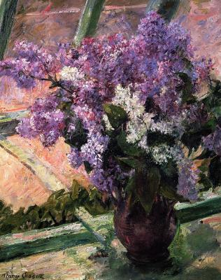Букет сирени на окне, импрессионизм, Мари Кассат
