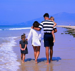 Семья на отдыхе