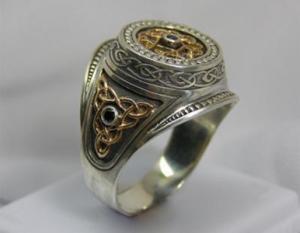 Кольцо с кельтским узором
