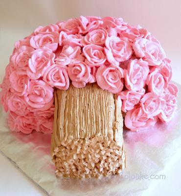как делать розочки из креме для тортов фото