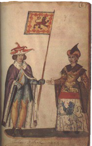 Иоанн Баллиоль и его жена Изабелла де Варенн