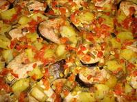 Картофель с рыбой